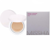 Солнцезащитная тональная основа кушон Missha Magic Cushion Cover Lasting SPF50+/PA+++ 23 Medium Beige 15 г (8809581449299)