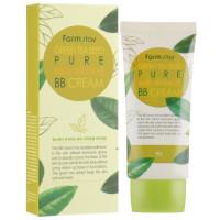 Матирующий ВВ крем для лица омолаживающий Farmstay Green Tea Seed Pure Anti-Wrinkle BB Cream 40 г (8809317286365)