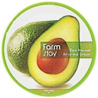 Увлажняющий крем для лица и тела для всей семьи с маслом авокадо Farmstay Real Avocado All In One Cream 300 мл (8809480772726)