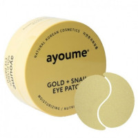 Патчи для глаз с золотом и улиточым муцином Ayoume Gold+Snail Eye Patch 60 шт (8809239804142)