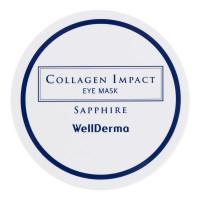 Сапфировые патчи для глаз с морским коллагеном Wellderma Collagen Impact Sapphire Eye Mask 60 шт