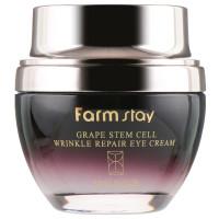 Восстанавливающий крем для кожи вокруг глаз с фито-стволовыми клетками винограда Farmstay Grape Stem Cell Wrinkle Repair Eye Cream 50 мл