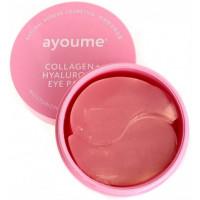 Патчи для глаз с коллагеном от морщин и сухости Ayoume Collagen+Hyaluronic Eye Patch 60 шт (8809239804166)