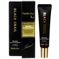 Сыворотка-ролер для кожи вокруг глаз FarmStay Black Snail Premium Rolling Eye Serum 25 мл (8809480772733)