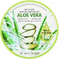 Увлажняющий гель с алоэ May Island Aloe Vera 100% Moisture Soothing Gel 300 мл (8809515401195)