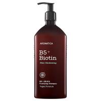 Бессульфатный питательный шампунь для волос Aromatica B5+Biotin Fortifying Shampoo 400 мл (8809151131180)