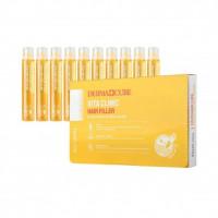 Витаминный филлер для волос Farmstay Dermacube Vita Clinic Hair Filler 13 мл 10 шт ( 8809615881712)