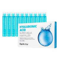 Набор увлажняющих филлеров для волос FarmStay Hyaluronic Acid Super Aqua Hair Filler 10 шт × 13 мл (8809615881439)