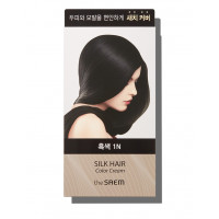 Крем-краска для волос The Saem Silk Hair Color Cream Gray Hair Cover Black 60 мл + 60 мл (8806164149881)