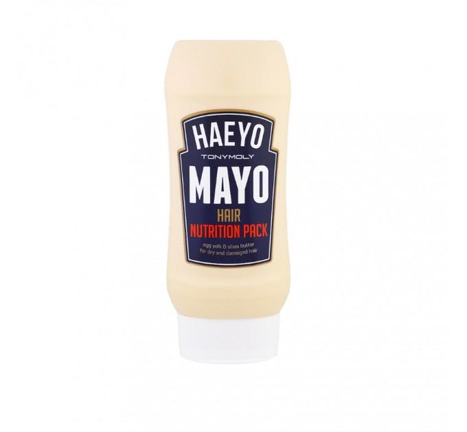Питательная маска для волос с яичным желтком и маслом Ши Tony Moly Haeyo Mayo Hair Nutrition Pack 250 мл (8806194010021)