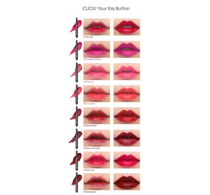 Матовая помада для губ The Saem Eco Soul Kiss Button Lips Matte 05 Red Warmer 2 г (8806164158692)