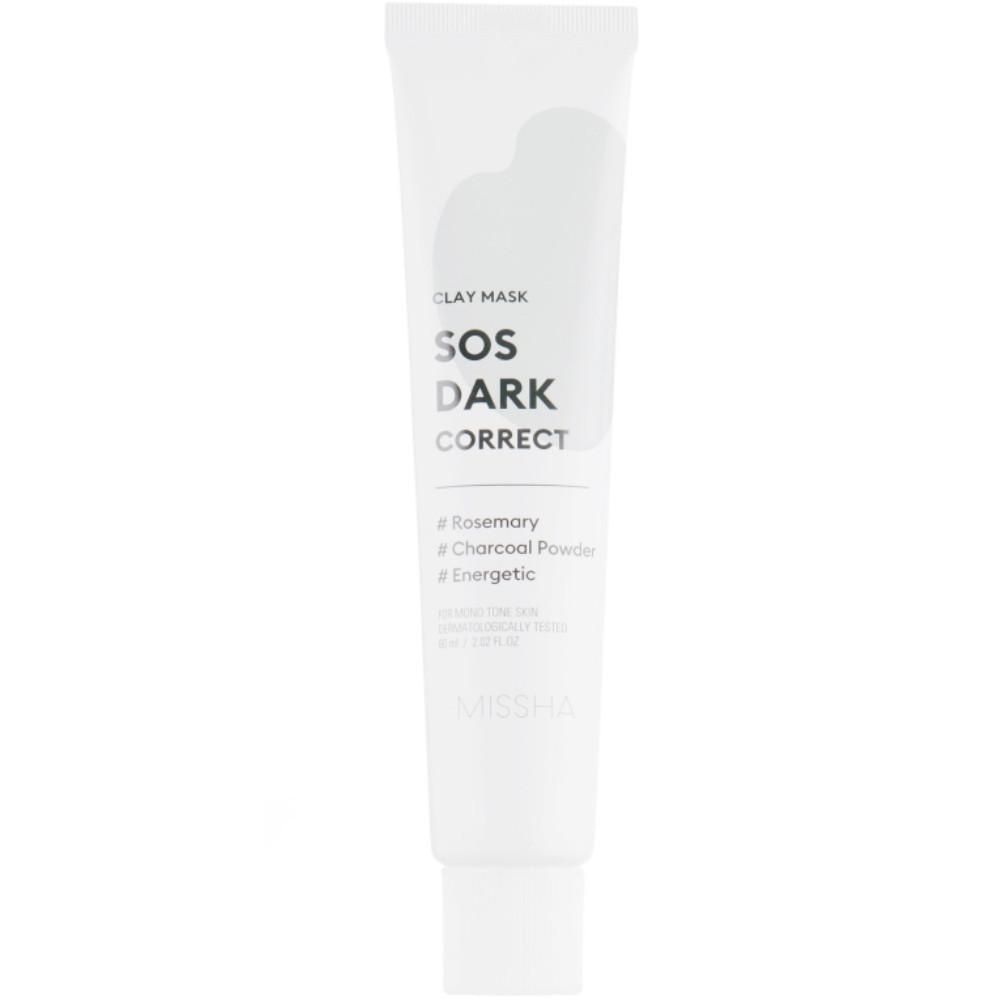 Осветляющая глиняная маска для лица Missha SOS Dark Correct Clay Mask 60 мл (8809581459304)