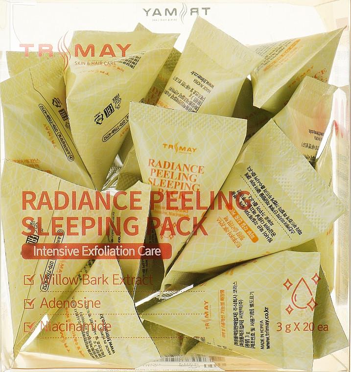Осветляющая ночная маска для лица Trimay Radiance Peeling Sleeping Pack 3 г * 20 шт (8809706860039)
