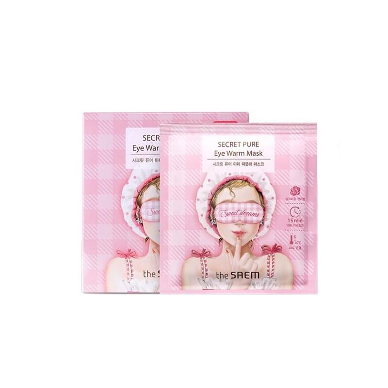 Тепловая маска для глаз The Saem Secret Pure Eye Warm Mask 1 шт (8806164152607)