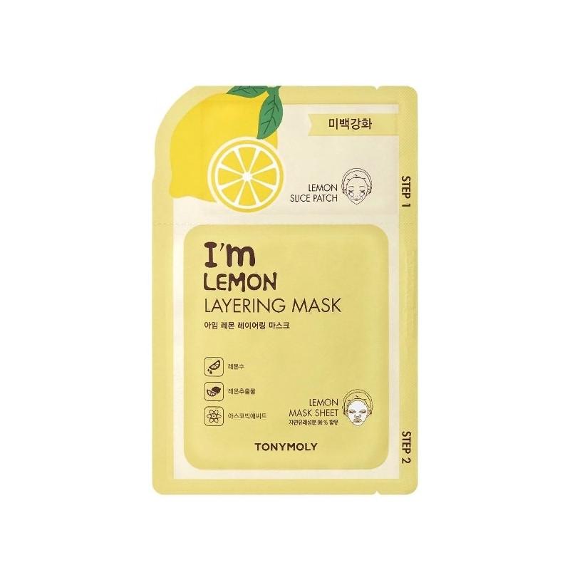 2-х шаговая маска для лица с экстрактом лимона Tony Moly I'm Lemon Layering Mask Sheet 23 мл (8806194023205)
