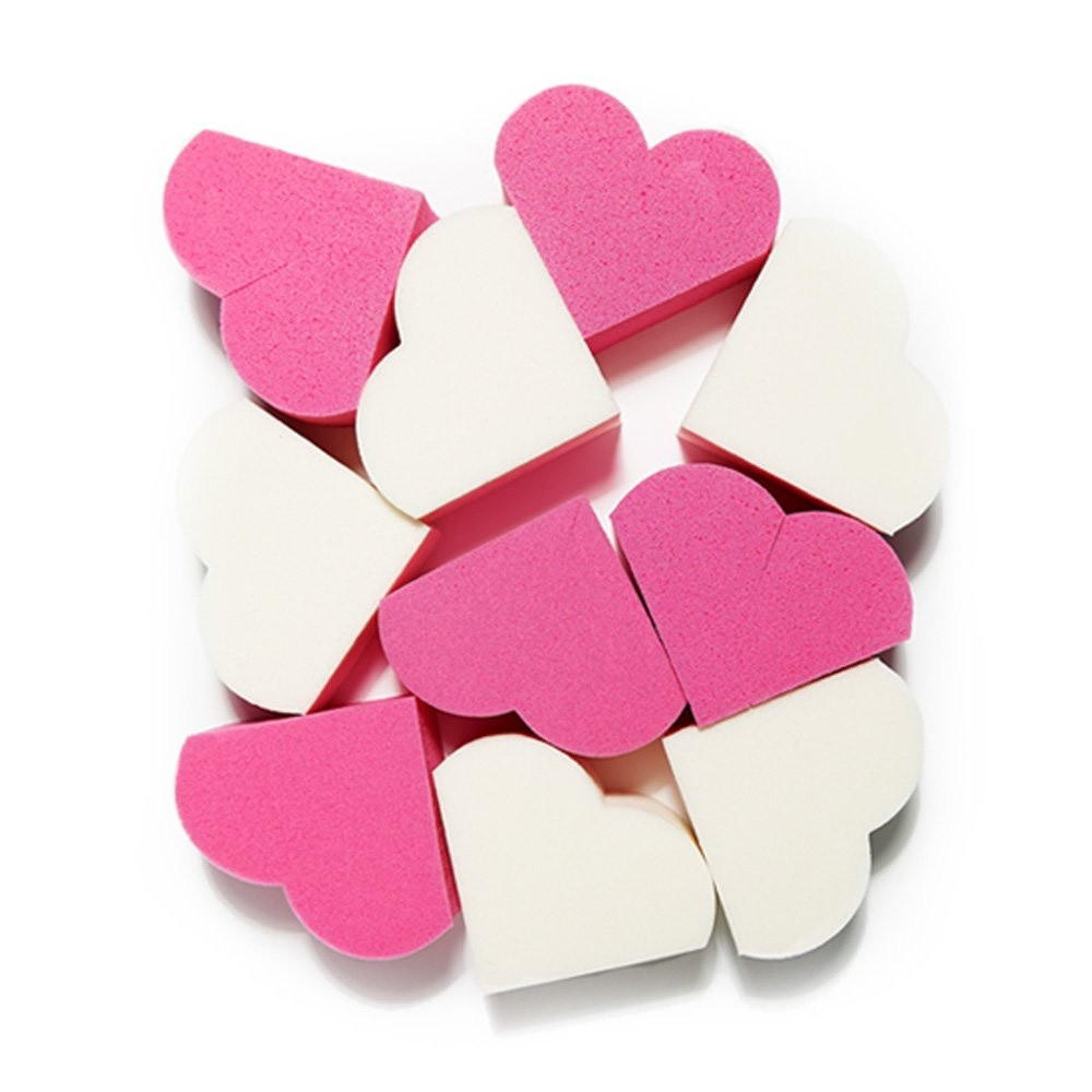 Комплект спонжей для макияжа Etude House My Beauty Tool Heart Shape Puff 20 шт (8806179438987)