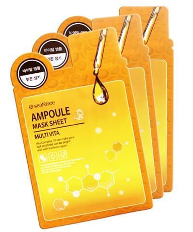 Тканевая маска для лица с комплексом витаминов SeaNtree Multi Vita Ampoule Mask Sheet 20 мл (8809476695596)