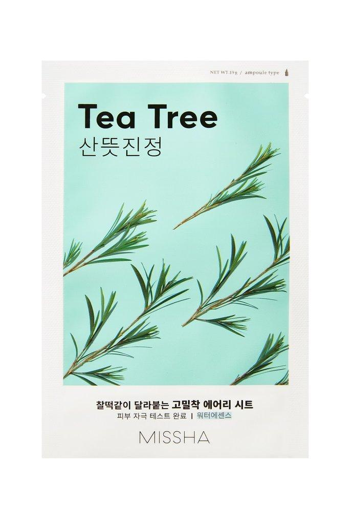 Успокаивающая маска для лица с экстрактом чайного дерева Missha Airy Fit Sheet Mask Tea Tree 19 г (8809581454750)