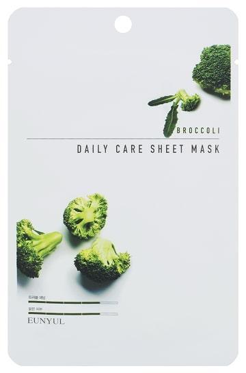 Омолаживающая маска для лица с брокколи Eunyul Daily Care Mask Sheet Broccoli 22 г (8809435405389)