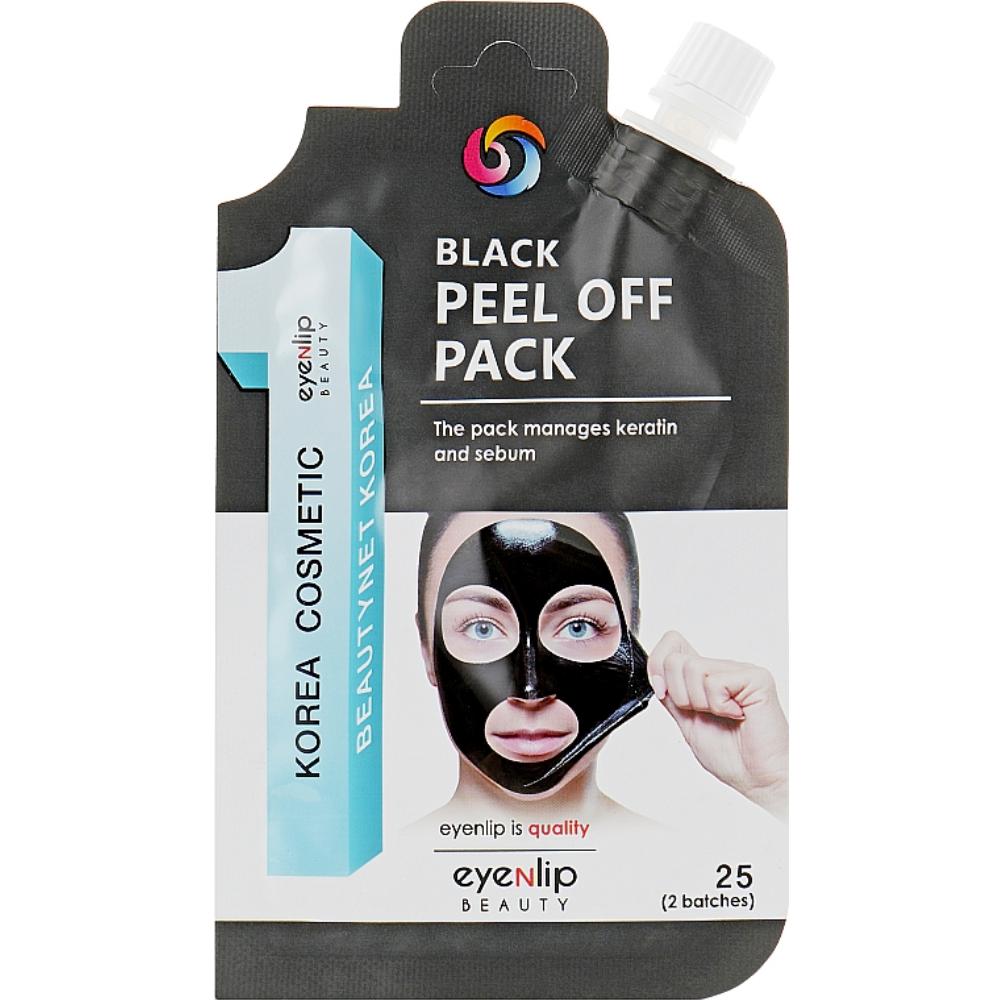 Черная маска-пленка очищающая Eyenlip Black Peel Off Pack 25 г (8809555250784)