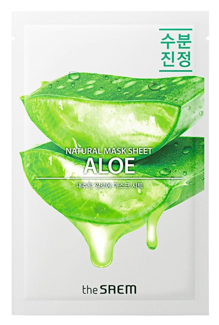 """Расслабляющая тканевая маска для лица """"Алоэ"""" The Saem Natural Skin Fit Relaxing Mask Sheet Aloe 21 мл (8806164158814)"""