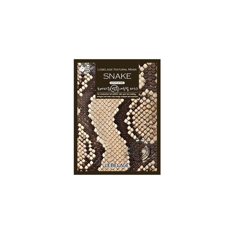 Тканевая маска для лица со змеиным ядом Lebelage Natural Mask Snake 23 г (8809430539195)