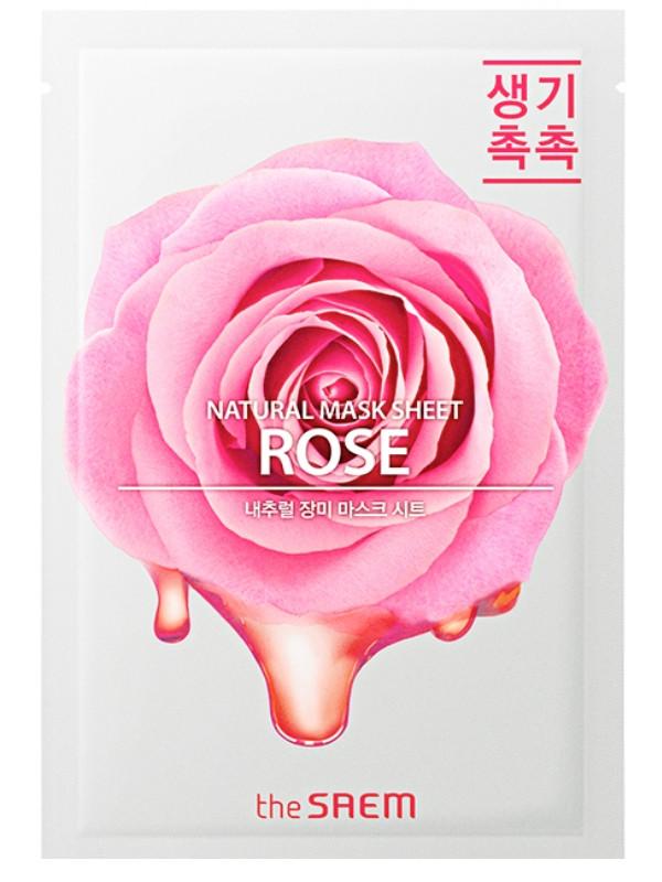 Тканевая маска для лица с экстрактом розы The Saem Natural Rose Mask Sheet 21 мл (8806164158975)