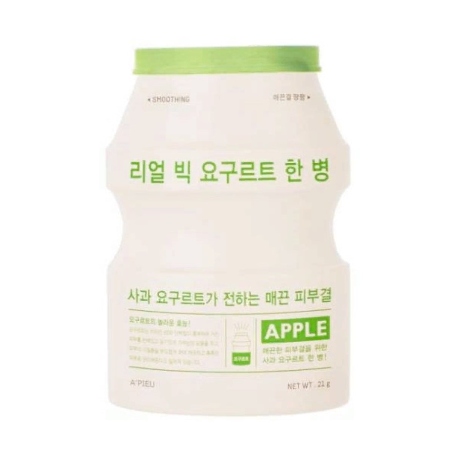 Йогуртовая маска для питания и восстановления кожи лица с экстрактом яблока A'pieu Real Big Yogurt One-Bottle (8809530031858)