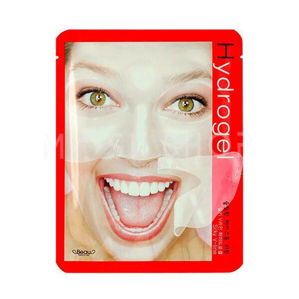 Моделирующая гидрогелевая маска для восстановления контуров лица BeauuGreen Silky V-Line Hydrogel Mask 28 г (8809389033133)