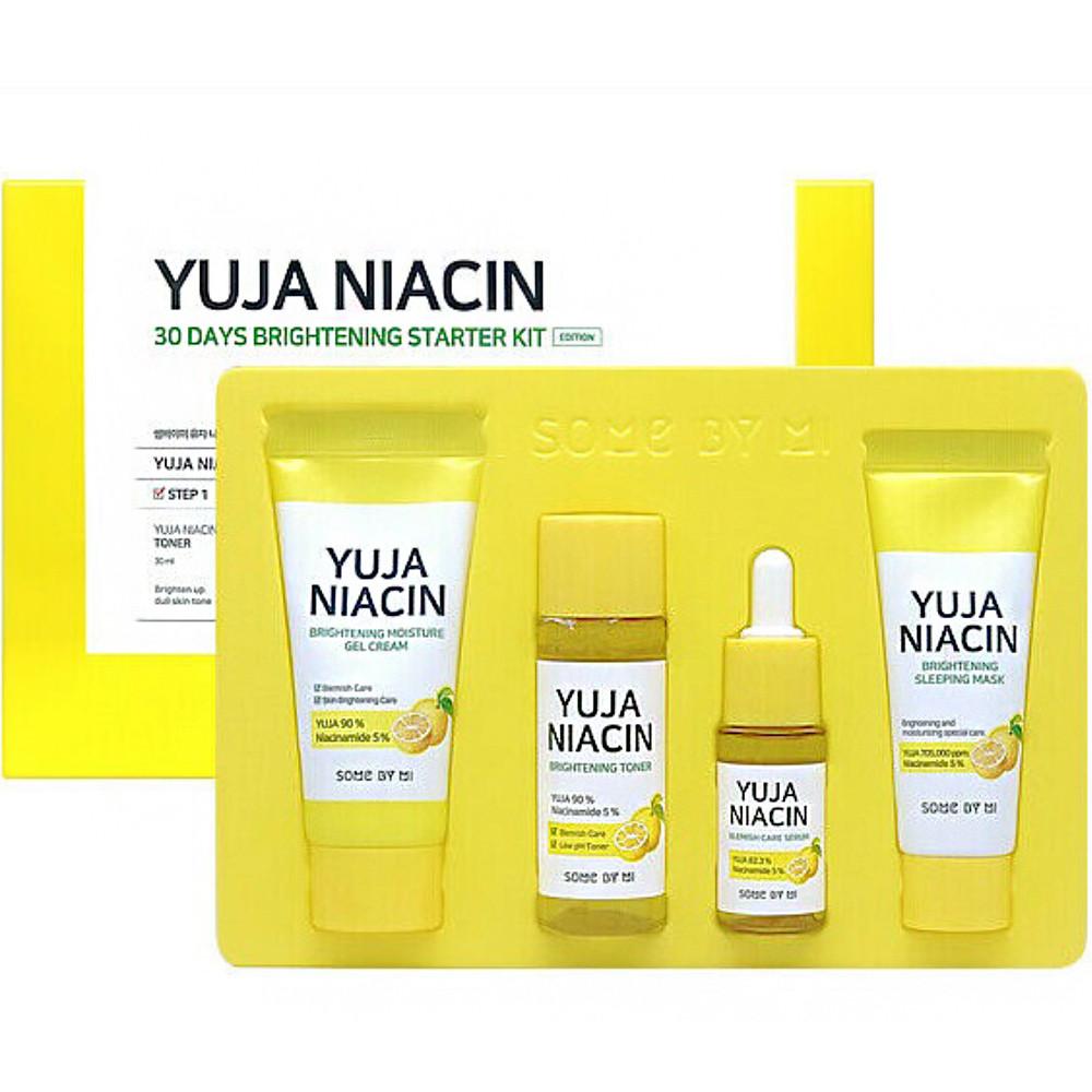 Набор мини-версий средств для осветления кожи лица Some By Mi Yuja Niacin 30 Days Brightening Starter kit 4 шт (8809647390558)