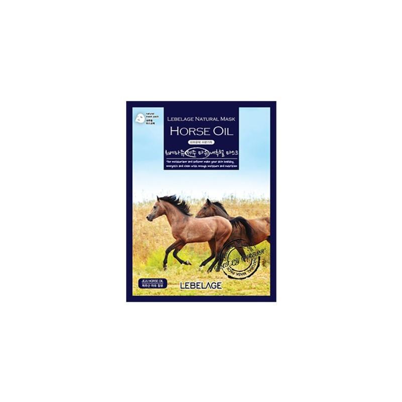 Тканевая маска для лица с конским жиром Lebelage Natural Mask Horse oil 23 г (8809430539188)