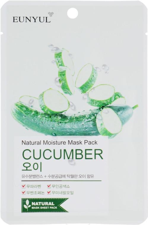 Увлажняющая тканевая маска для лица с огурцом Eunyul Natural Moisture Mask Pack Cucumber 25 мл (8809435402159)