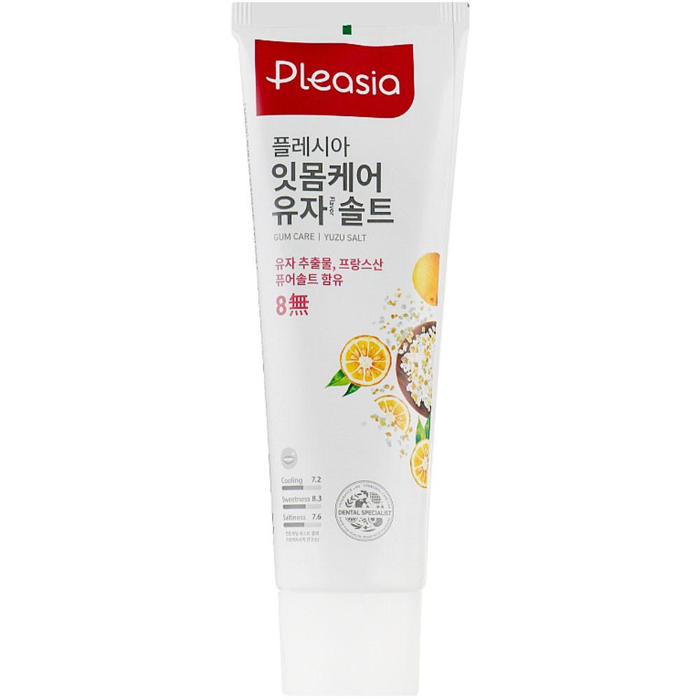 Оздоравливающая зубная паста с мандарином и солью Amore Pacific Pleasia Yuzu Salt Toothpaste 100 мл (8809559325242)