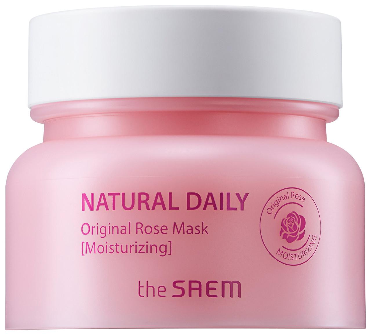 Увлажняющая маска для лица с лепестками роз The Saem Natural Daily Original Rose Mask 100 мл (8806164149553)