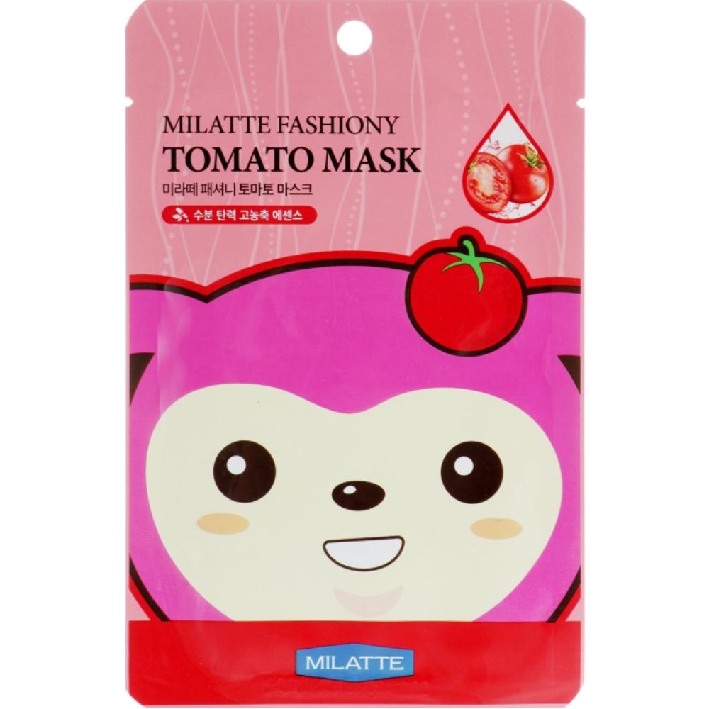Осветляющая тканевая маска для лица с экстрактом томата Milatte Fashiony Tomato Mask Sheet 1 шт (8809535260260)