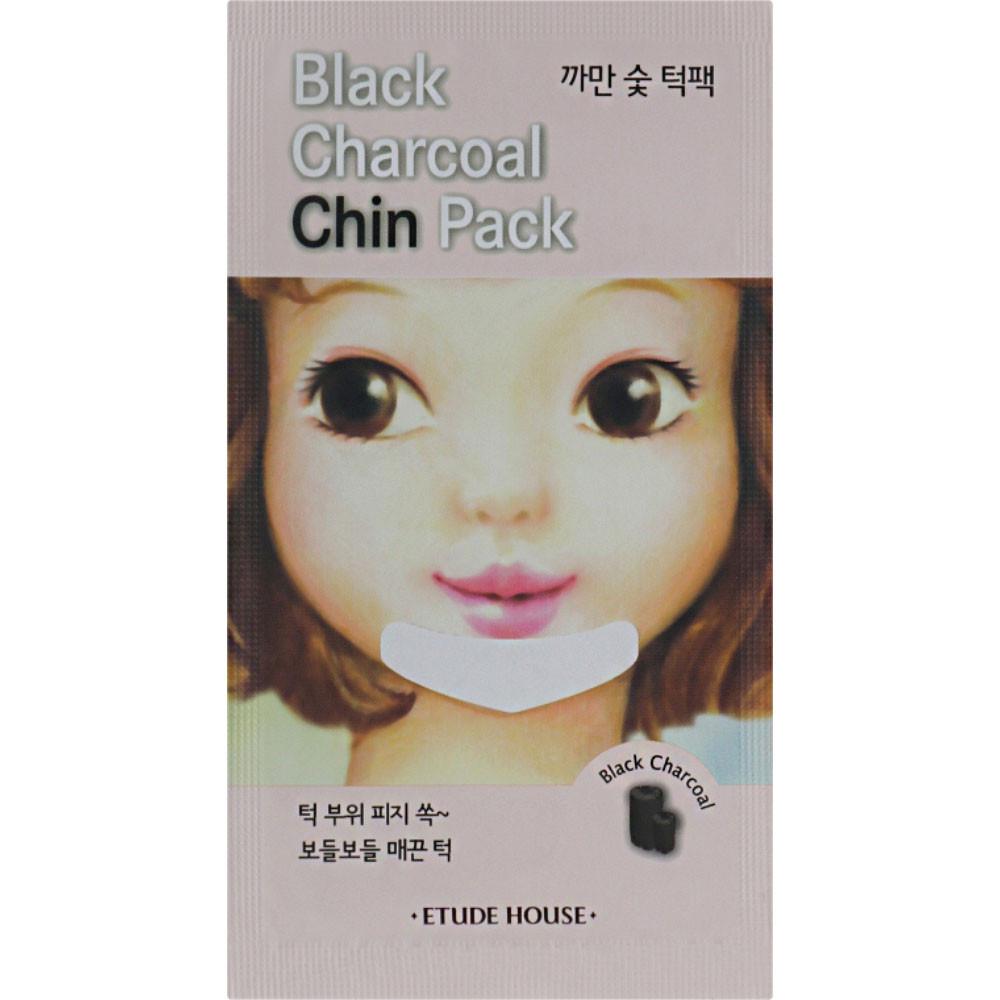 Очищающий патч для подбородка с древесным углем Etude House Black Charcoal Chin Pack 1 шт (8806382609570)