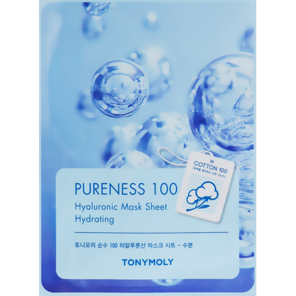 Маска для лица с гиалуроновой кислотой Tony Moly Pureness 100 Hyaluronic Acid Hydrating Mask Sheet 21 мл (8806194004457)