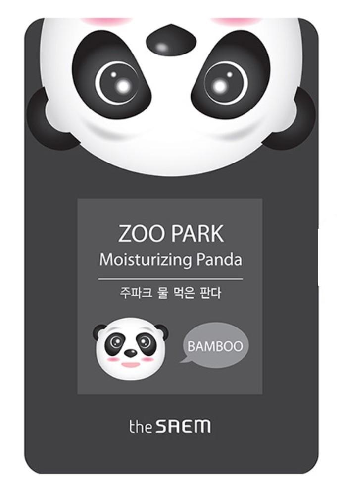 Увлажняющая тканевая маска для лица с экстрактом бамбука The Saem Zoo Park Water Moisturizing Panda 25 мл (8806164127780)