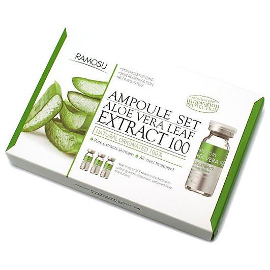 Набор восстанавливающий с алоэ вера Ramosu Aloe vera Leaf Extract 100, 10 мл x 3 шт (8809476610100)