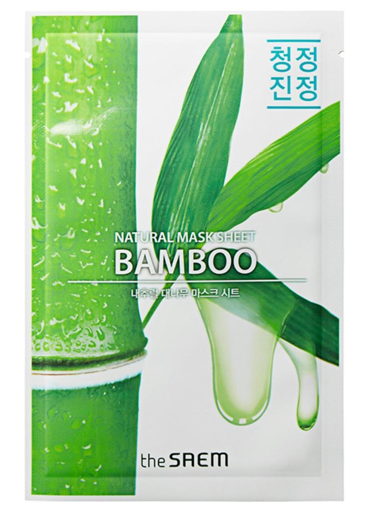 Тканевая маска для лица с экстрактом бамбука для упругости кожи The Saem Natural Bamboo Mask Sheet 21 мл (8806164158913)