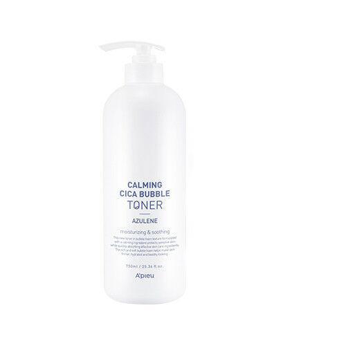 Успокаивающий тонер для лица с центеллой и азуленом A'pieu Calming Cica Bubble Toner Azulene 750 мл (8809581483279)