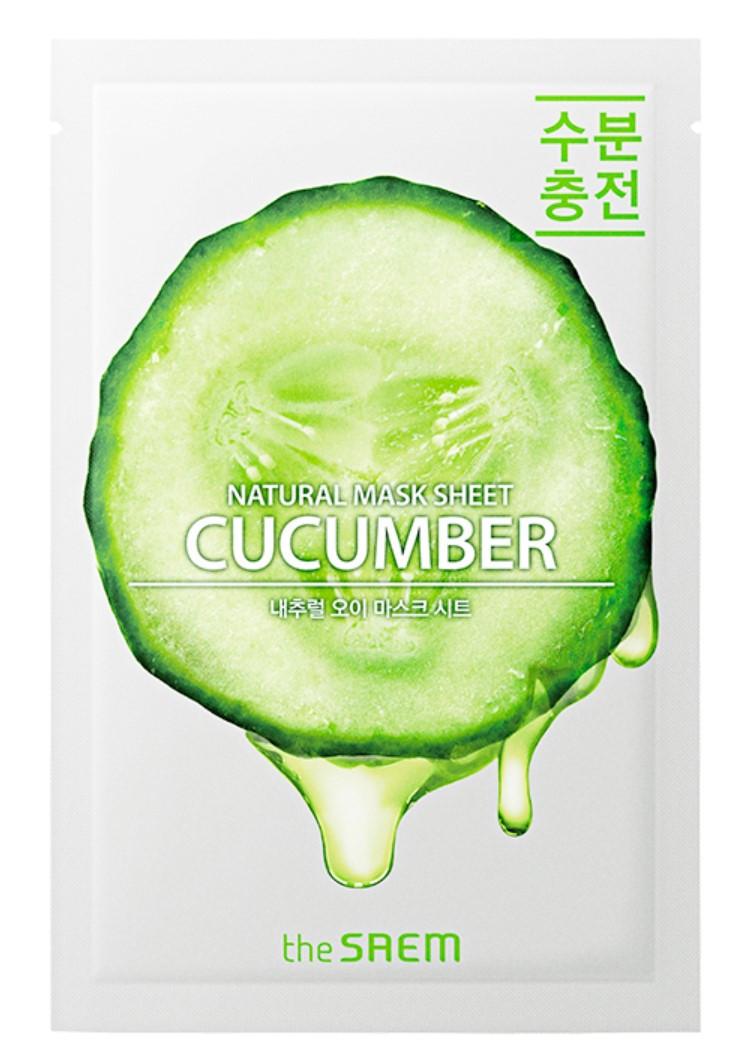 Увлажняющая тканевая маска для лица с экстрактом огурца The Saem Natural Cucumber Mask Sheet 21 мл (8806164158937)