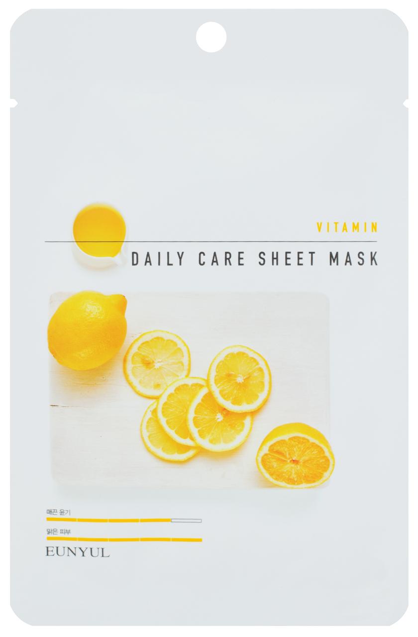Восстанавливающая маска для лица с витамином B5 Eunyul Daily Care Mask Sheet Vitamin 22 г (8809435405327)