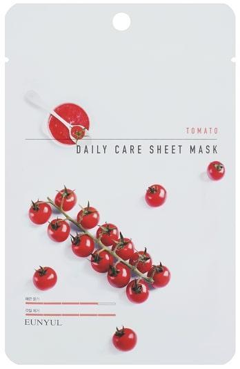 Осветляющая маска для лица с экстрактом томата Eunyul Daily Care Mask Sheet Tomato 22 г (8809435405372)