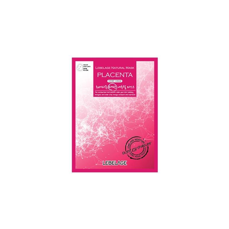 Тканевая маска для лица с плацентой Lebelage Natural Mask Placenta 23 г (8809430539225)