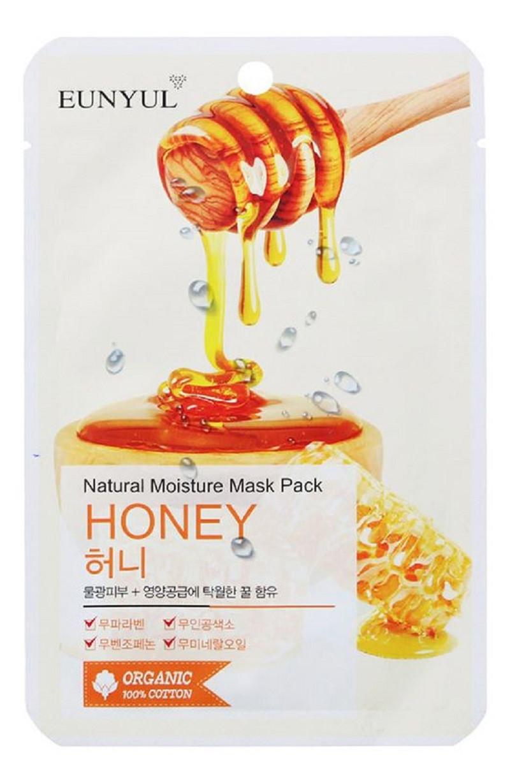 Увлажняющая тканевая маска для лица с медом Eunyul Natural Moisture Mask Pack Honey 25 мл (8809435402166)