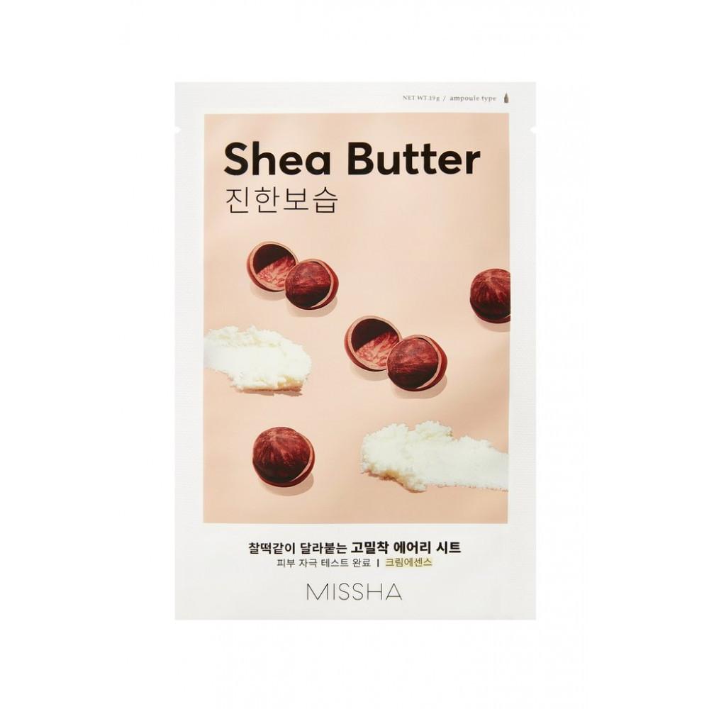 Питательная тканевая маска для лица с маслом Ши Missha Airy Fit Sheet Mask Shea Butter 19 г (8809581454798)