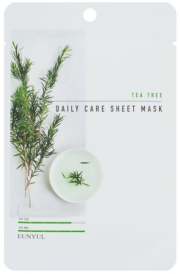 Восстанавливающая лечебная маска для лица с чайным деревом Eunyul Daily Care Mask Sheet Tea Tree 22 г (8809435405310)