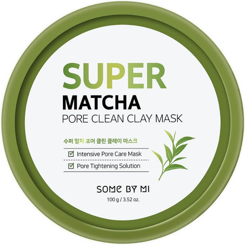 Очищающая глиняная маска для лица с чаем матча Some By Mi Super Matcha Pore Clean Clay Mask 100 г (8809647391074)