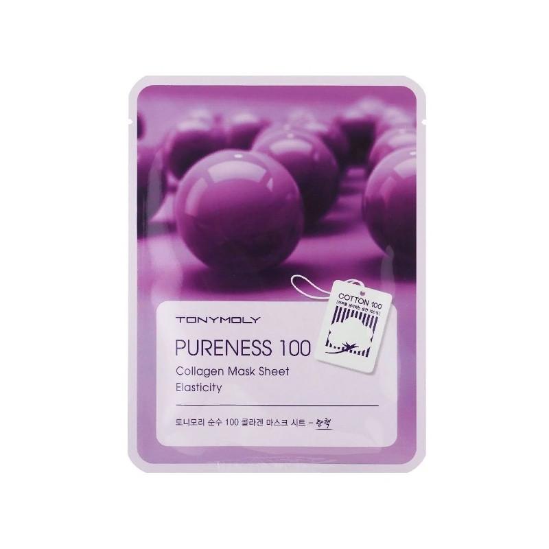 Маска для лица с экстрактом коллагена Tony Moly Pureness 100 Collagen Elasticity Mask Sheet 21 мл (8806194004334)